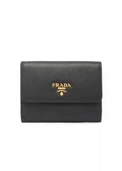 PRADA - wallet and more - Logo Leather Wallet