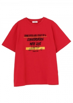 EMBROIDERY MESSAGE LOGO T-SH