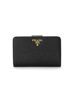 PRADA - Wallet Collection - - 二つ折り財布 / SAFFIANO METAL ORO 【NERO】