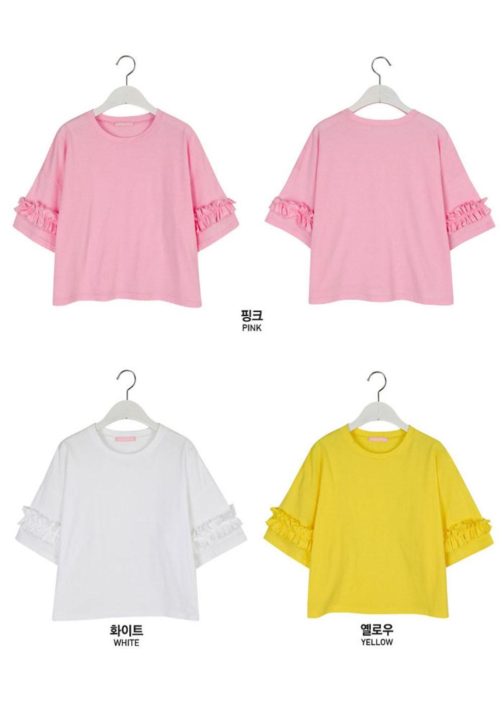 cde90c32695f 最大60%OFF】SONYUNARA(ソニョナラ)袖フリル少女Tシャツ|ホワイト|T ...