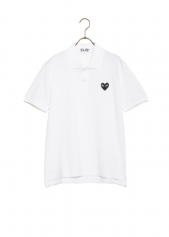 COMME des GARCONS - PLAY BLACK HEART POLO SHIRT