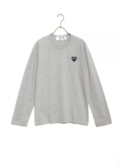 COMME des GARCONS - PLAY LONG SLEEVE TEE BLACK HEART