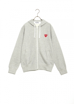COMME des GARCONS - PLAY ZIP SWEAT RED HEART