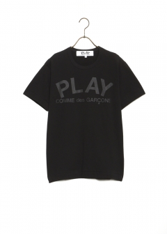 COMME des GARCONS - PLAY TEXT LOGO TEE