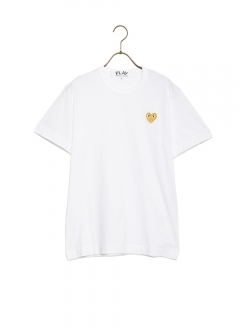 COMME des GARCONS - 【1/14入荷】PLAY GOLD HEART LOGO TEE
