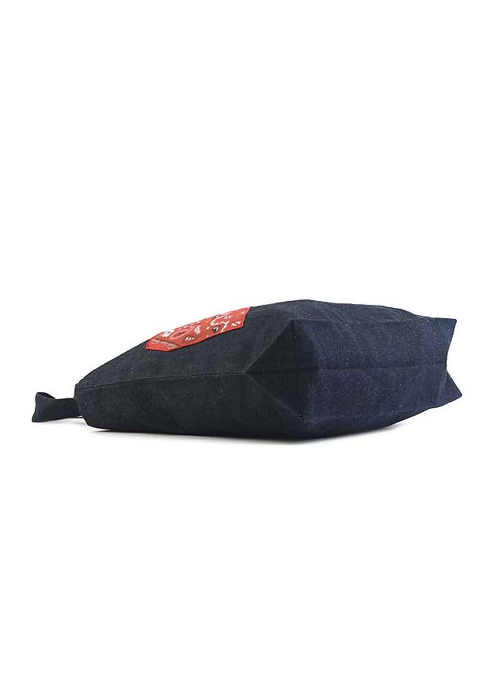 【最大35%OFF】TOTE BAG BANDANA HEART|NAVY MELANGE|トートバッグ|MAISON KITSUNE