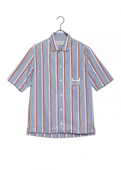 MAISON KITSUNE - STRIPES SHORT SLEEVE SHIRT