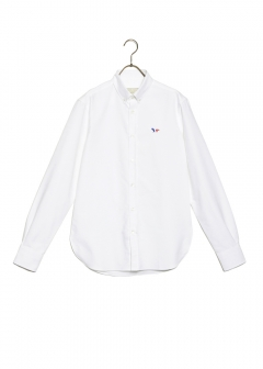 MAISON KITSUNE - OXFORD TRICOLOR FOX PATCH CLASSIC SHIRT