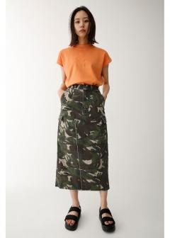 REMAKE MILITARY SKIRT