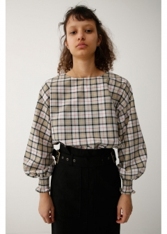 2WAY CHECK BLOUSE