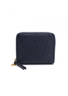 FLEMING QUILTED LEATHER ラウンドファスナー 折り財布