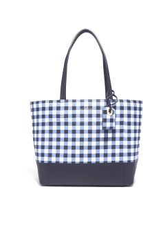 GINGHAM SMALL RILEY トートバッグ