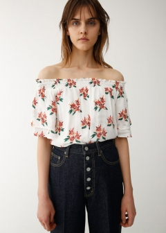 TROPICAL FLOWER OFF SHOULDER