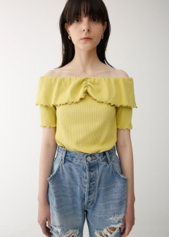 MELLOW RIB OFF SHOULDER TOP