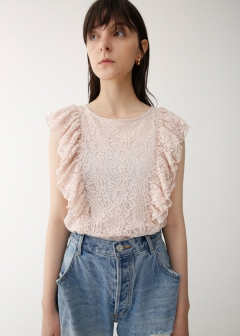 RUFFLE LACE TOP
