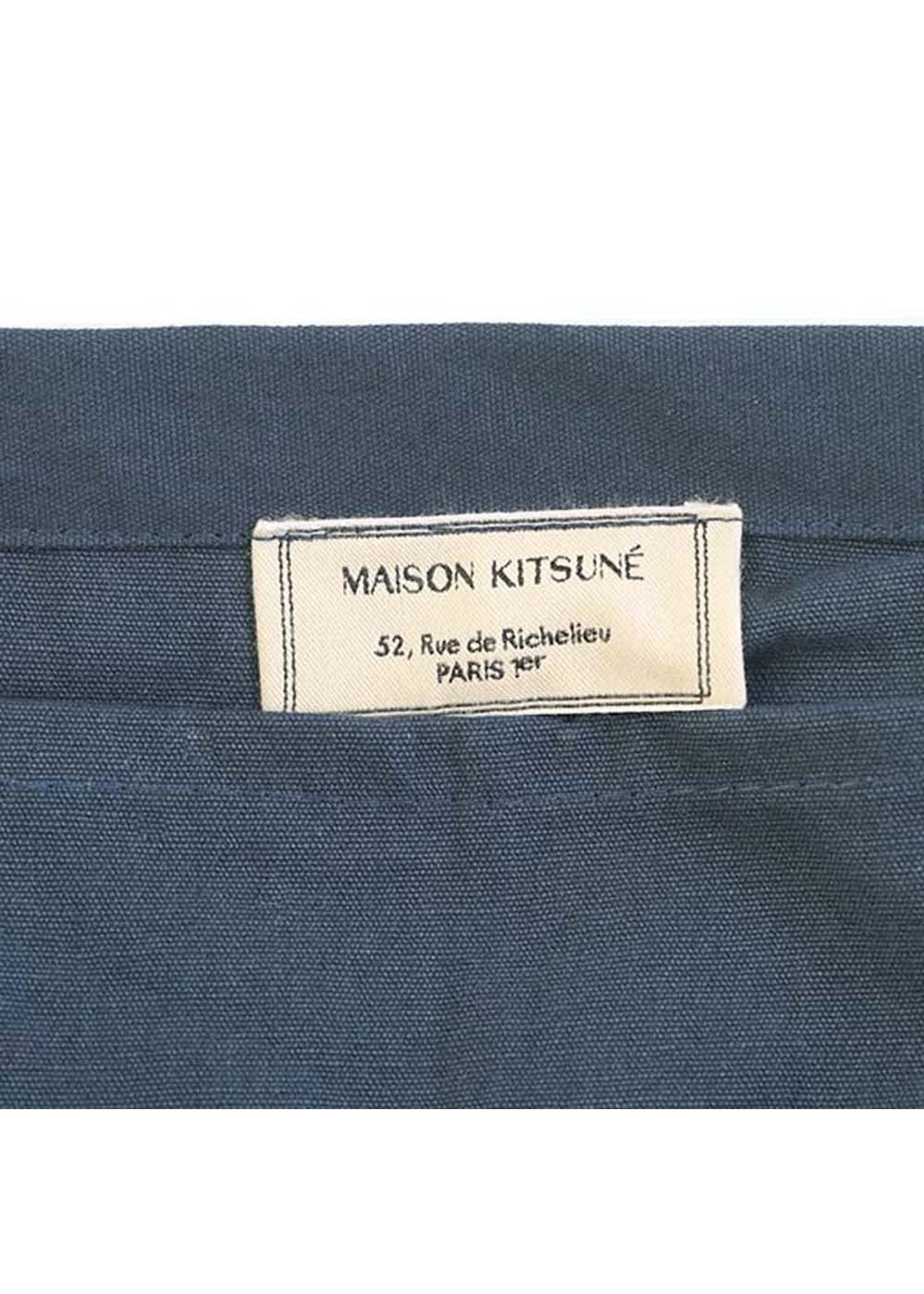 【最大35%OFF】SHOPPING BAG PALAIS ROYAL|BLUE|トートバッグ|MAISON KITSUNE(C)