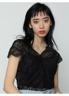 EMODA - OPEN SKIN LACE TOP