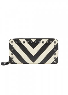 ROCK STUDS ZIP WALLET