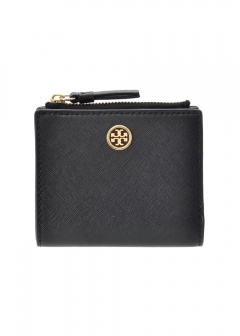 Tory Burch - ROBINSON MINI WALLET/2つ折りコンパクト財布【BLACK/ROYAL NAVY】