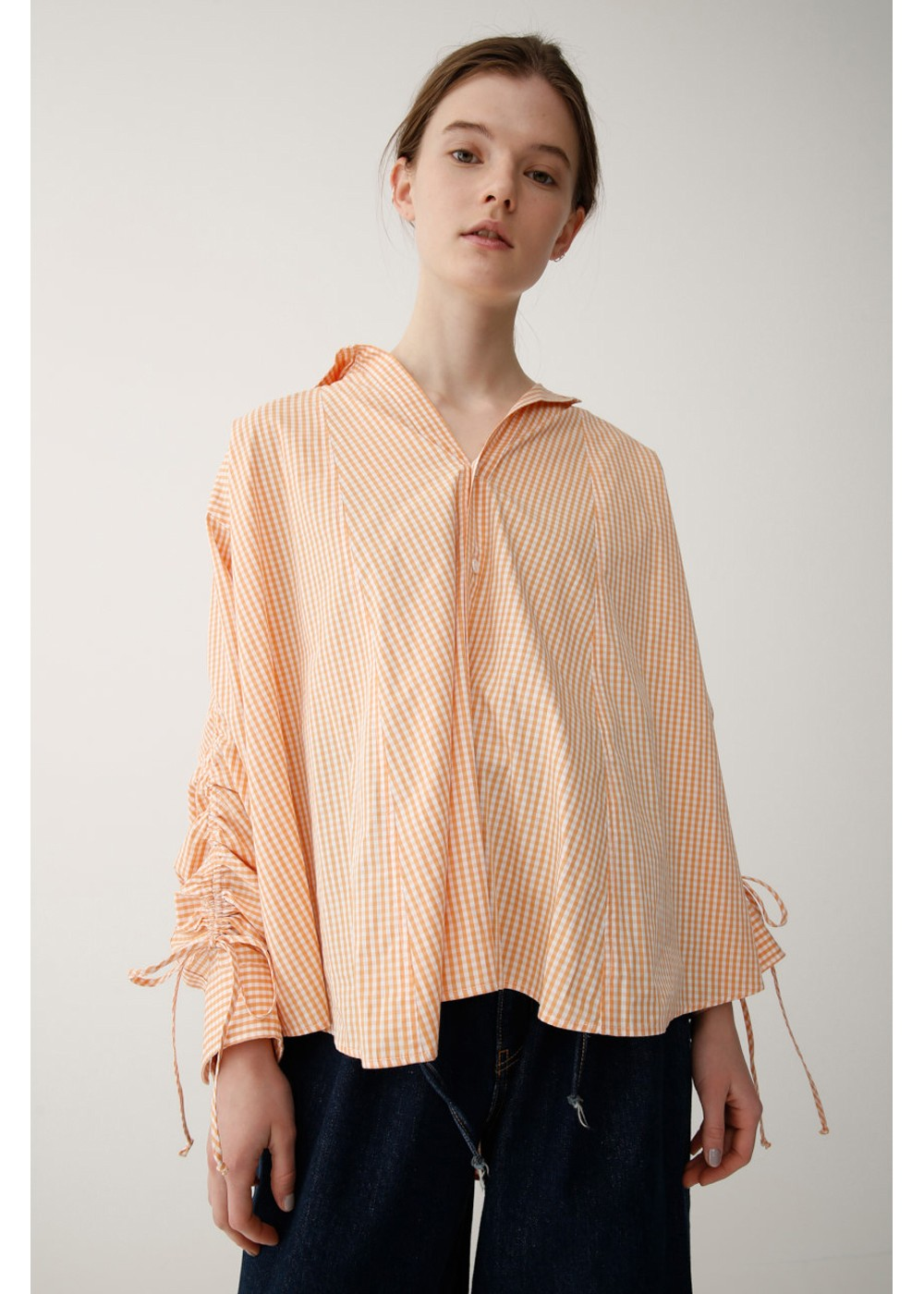 【最大70%OFF】DRAWSTRING SLEEVE SHIRT|柄ORG|シャツ|MOUSSY