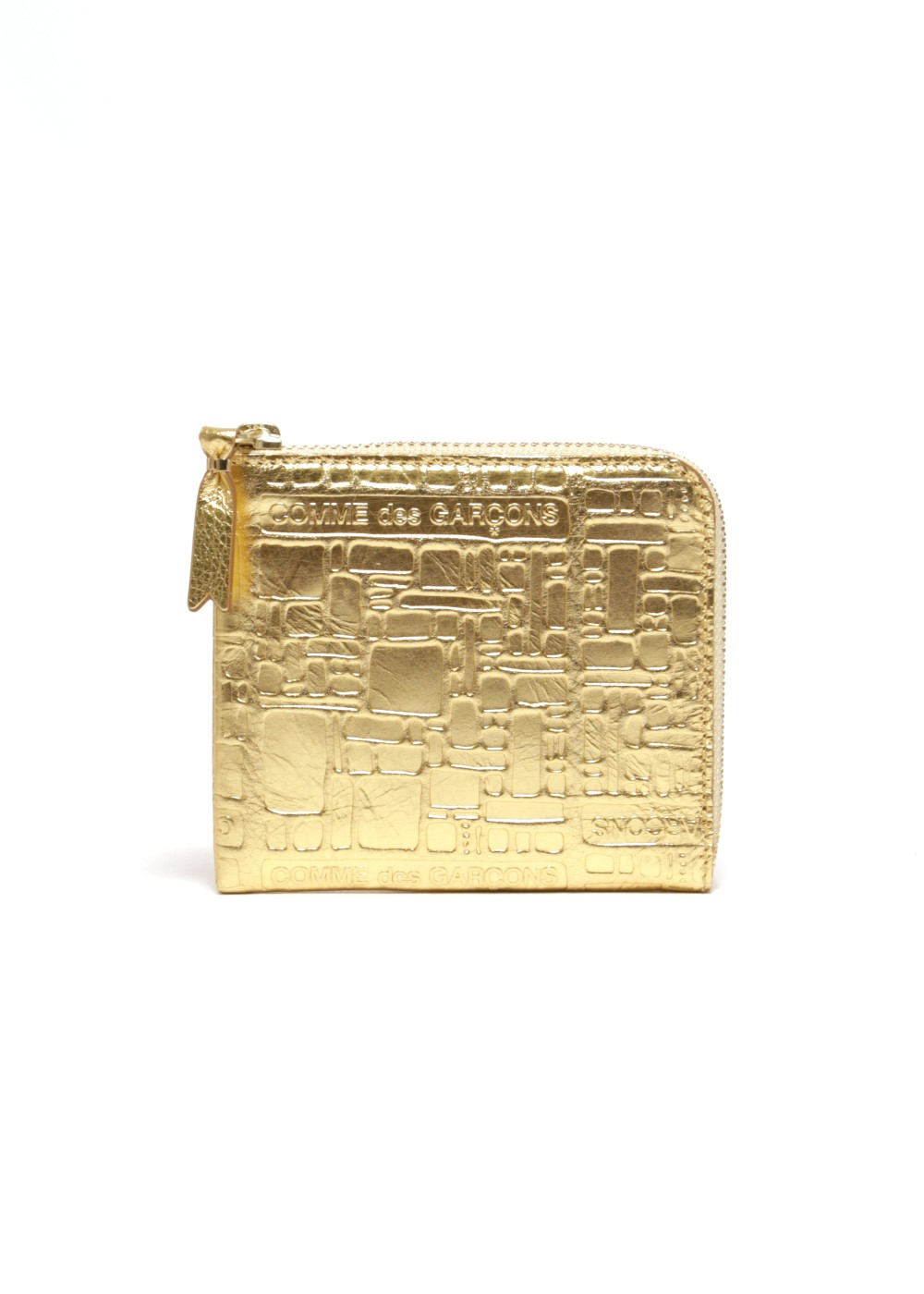 【最大69%OFF】EMBOSSED LOGOTYPE WALLET|GOLD|レディース財布|COMME des GARCONS_(TI)