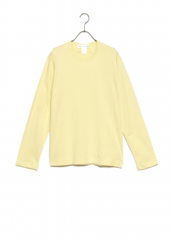 【最大69%OFF】SHIRT RIBBED CREWNECK TEE|YELLOW|Tシャツ|COMME des GARCONS_(TI)