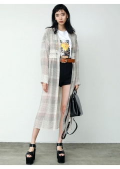 EMODA - 【EMODA】SHEER WAIST MARK CHECK SH