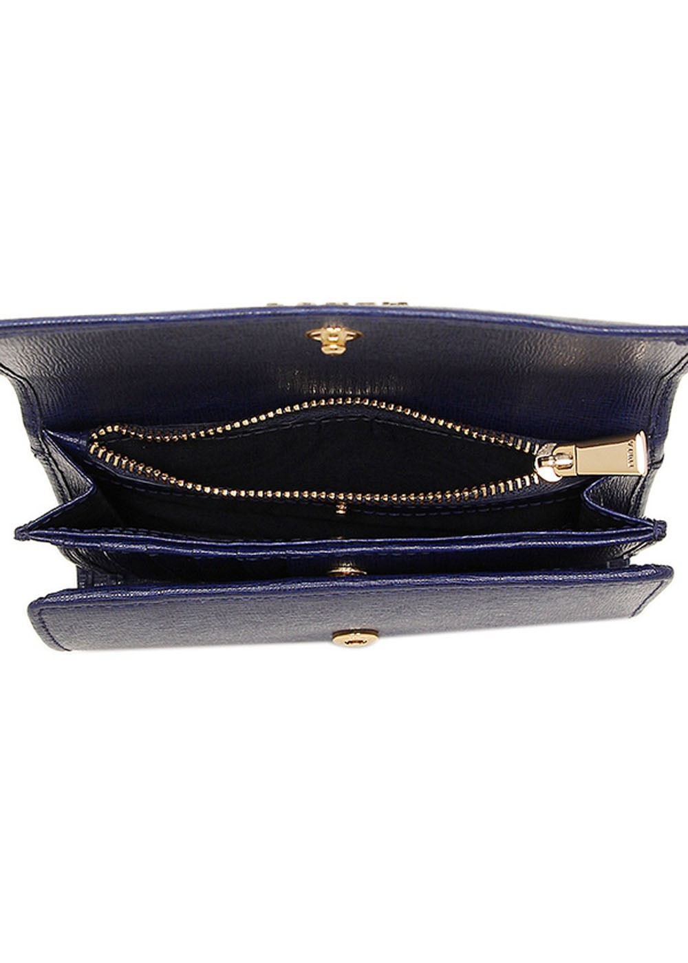 c0b649435e37 ... 最大57%OFF】トライフォールド ウォレット ジップ型二つ折り財布|NAVY ...