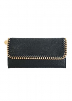 Stella McCartney - CONTINENTAL WALLET GOLD CHAIN FALABELLA