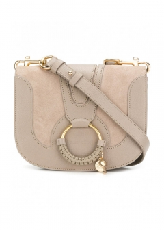 【SEE BY CHLOE】HANA SUEDE AND LEATHER CROSSBODY BAG(海外買付のため約2~3週間後のお届けです)