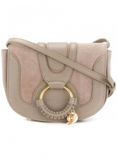 【SEE BY CHLOE】MINI HANA SUEDE AND LEATHER CROSSBODY(海外買付のため約2~3週間後のお届けです)