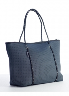BOUTIQUE COLLECTION ZIP TOTES Charcoal