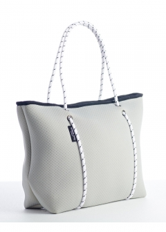 BOUTIQUE COLLECTION ZIP TOTES Light Grey