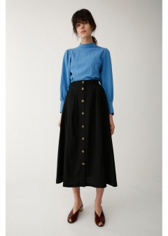 FRONT BUTTON FLARE SKIRT