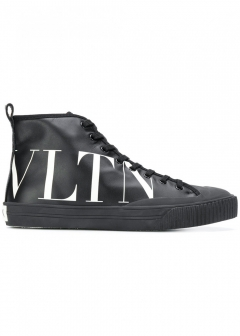 VALENTINO - 【VALENTINO GARAVANI】HIGH-TOP SNEAKER WITH VLTN LOGO(海外買付のため約2~3週間後のお届けです)
