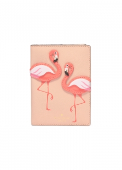 kate spade new york - wallet and more - BY THE POOL FLAMINGO PASSPORT HOLDER