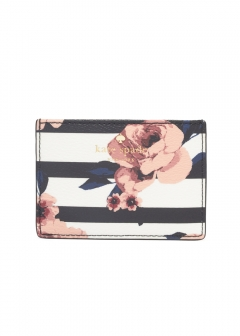 kate spade new york - wallet and more - HYDE LANE ROSE STRIPE CARDHOLDER