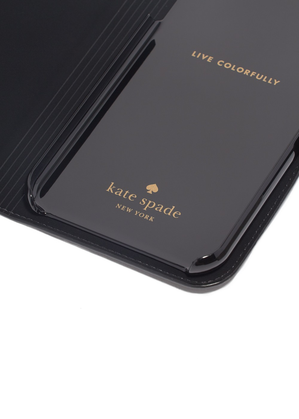 kate spade NEW YORK|ケイトスペードニューヨーク|IPHONE CASES|アイフォンケース|iPhoneX CASE ANTOINE APPLIQUE FOLIO