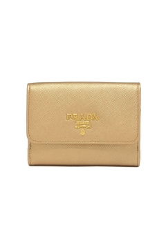PRADA - Logo Leather Wallet