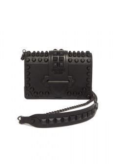 PRADA - CAHIER LEATHER SHOULDER BAG