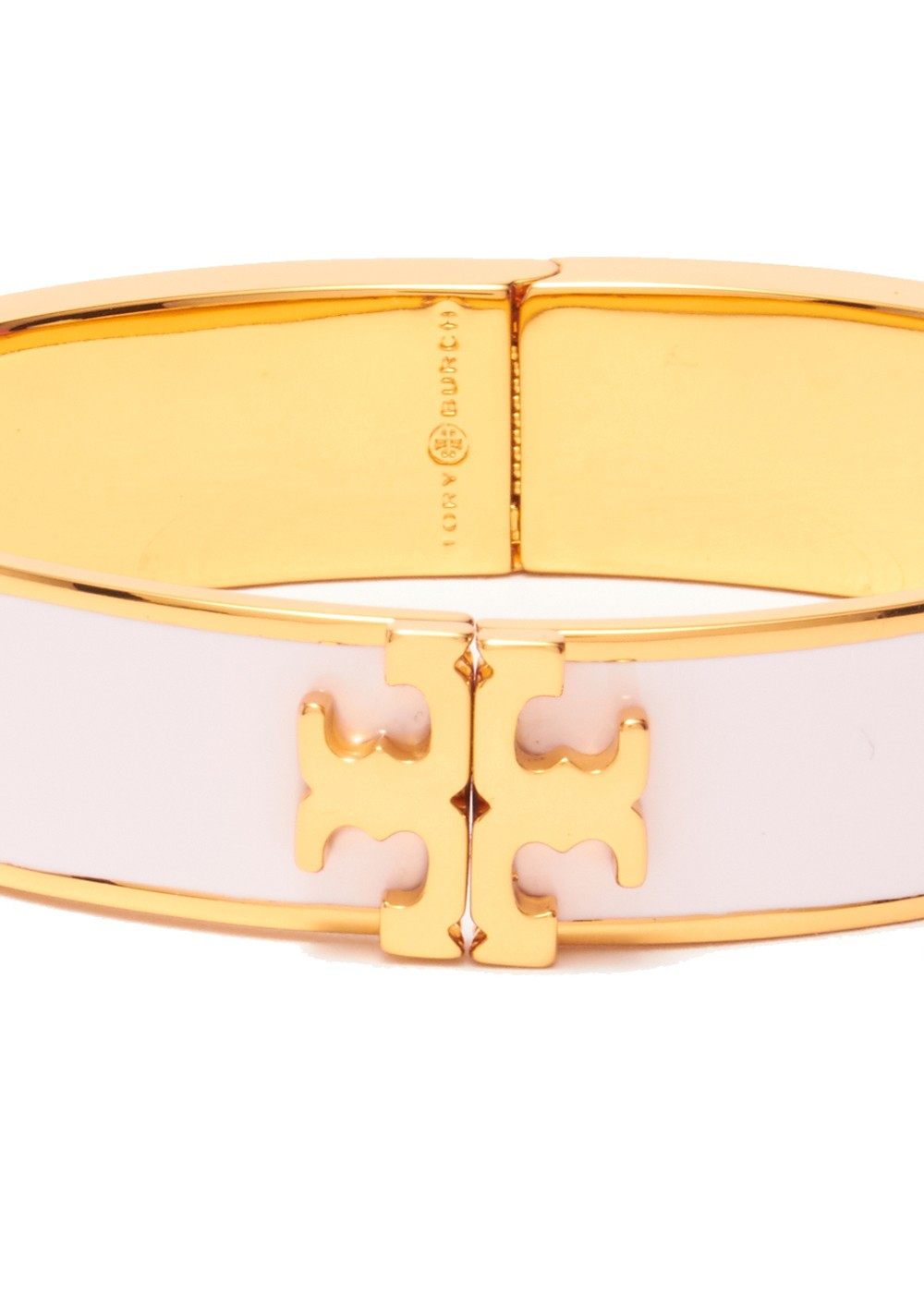 TORY BURCH|トリバーチ|ACCESSORY|アクセサリー|RAISED LOGO ENAMEL HINGED BRACELET