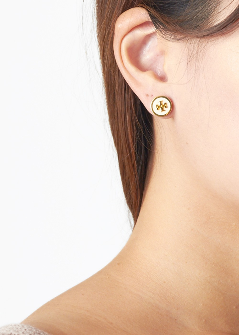 TORY BURCH|トリバーチ|ACCESSORY|アクセサリー|LACQUERED RAISED LOG STUD EAARING