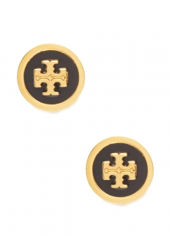 Tory Burch - LACQUERED RAISED LOG STUD EAARING