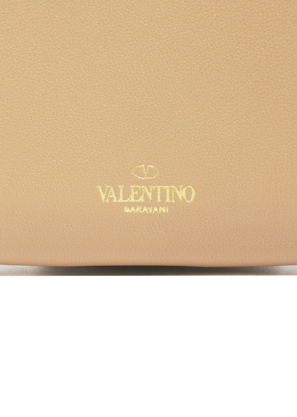 【最大32%OFF】ROCKSTUD COMPACT WALLET|CAMEL ROSE|レディース財布|VALENTINO_(TI)