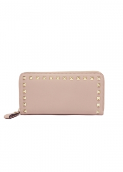 VALENTINO - ROCKSTUD AROUND ZIP WALLET