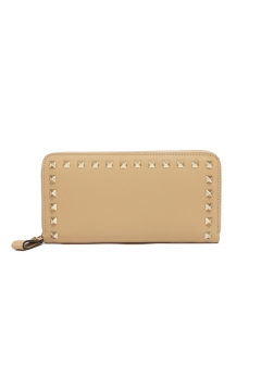 ROCKSTUD AROUND ZIP WALLET