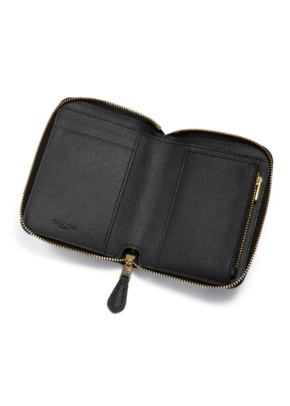 【最大50%OFF】SMALL ZIP AROUND WALLET|LI/BLACK|レディース財布|COACH