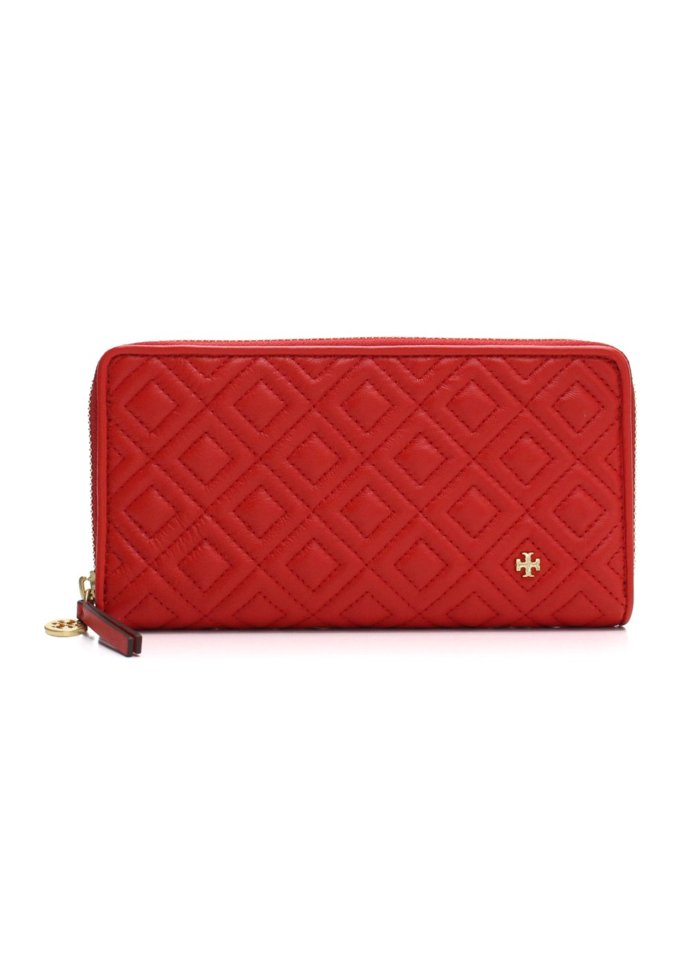 TORY BURCH|トリバーチ|FLEMING|フレミング|QUILTED LEATHER ZIP CONTINENTAL WALLET