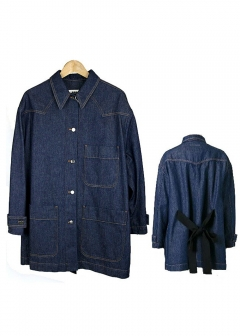 Maison Margiela / MM6 Maison Margiela - デニムジャケット OVER SIZE DENIM COAT W BOW ON THE BACK【S52AM0046-S30460】