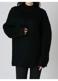 EMODA - 【EMODA】HI LINE OVER KNIT TOP